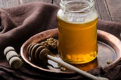 Honey rustic photography, food advertisment Stock Image
