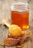 Honey and rye bread. Stock Images