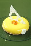 Honey, Sea-buckthorn and Apricot Yellow Entremet Cake Royalty Free Stock Image
