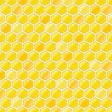 Honey Seamless Pattern Stock Photo