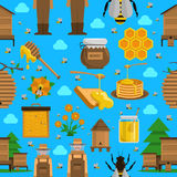 Honey Seamless Pattern Royalty Free Stock Photo