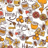 Honey Seamless Pattern Royalty Free Stock Image
