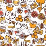 Honey Seamless Pattern Royalty Free Stock Image