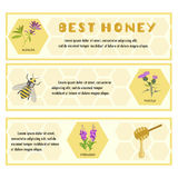 Honey set for banner Royalty Free Stock Images