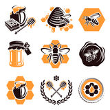 Honey set. Vector Stock Photos