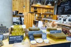 Honey shop at Borough market, London Royalty Free Stock Photo