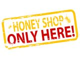 Honey shop. Rubber stamp with text honey shop inside,  illustration Stock Photo