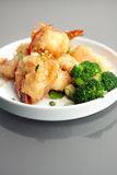 Honey Shrimp Dish tailandês friável Fotos de Stock