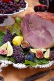 Honey Sliced Ham stock image