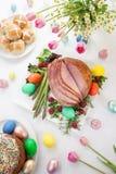 Honey Sliced Ham For Easter stockfotografie
