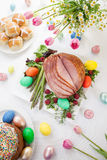 Honey Sliced Ham For Easter Stock Photography