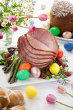 Honey Sliced Ham For Easter Royalty Free Stock Image