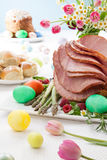 Honey Sliced Ham For Easter Royalty Free Stock Photography