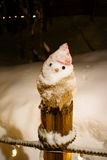 Honey snowman. The honey snowman on the handrail beside the road Stock Photos