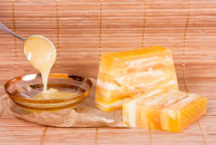 Honey soap Royalty Free Stock Photo