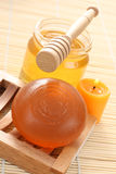 Honey soap royalty free stock images