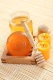 Honey soap Stock Photo