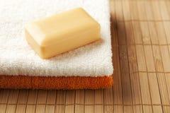 Honey soap bar Royalty Free Stock Photos