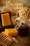Honey soap Stock Photography