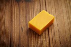 Honey soap on wood Stock Photos