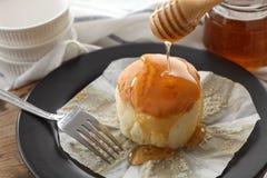 Honey soft cheese cake sweet pastries dessert still life closeup Stock Photo