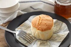 Honey soft cheese cake sweet pastries dessert still life closeup Stock Photography