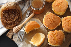 Honey soft cheese cake sweet pastries dessert yummy still life closeup Royalty Free Stock Photography