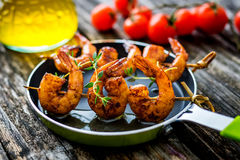 Honey Soy Shrimp arrostito immagine stock libera da diritti