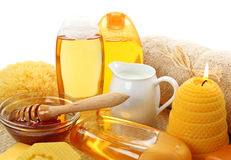 Honey spa Royalty Free Stock Image