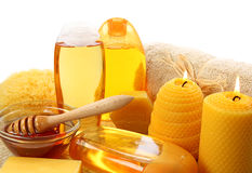 Honey spa Stock Photography