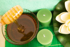 Honey spa stock image