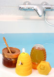Honey spa Stock Photos