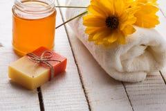 Honey spa. Royalty Free Stock Image