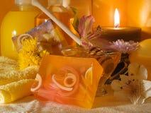 Honey Spa Products Fotografía de archivo libre de regalías