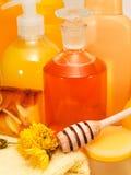Honey Spa Products Imagen de archivo libre de regalías