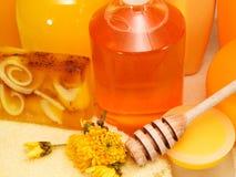 Honey spa products Stock Photo