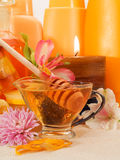 Honey spa products Stock Image