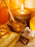 Honey Spa Products Royalty Free Stock Photos