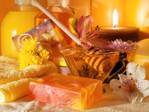 Honey spa products Stock Photo