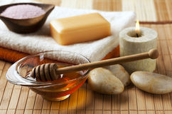 Honey for spa treatment Royalty Free Stock Images