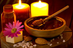 Honey and spa treatment Royalty Free Stock Photography