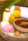 Honey and spa treatment Stock Photography