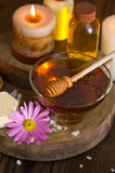 Honey and spa treatment royalty free stock images