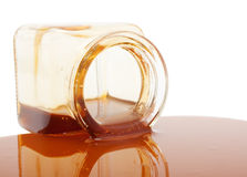 Honey spill Royalty Free Stock Photography