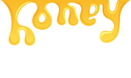 Honey splash letter Stock Image