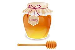 Honey spoon Royalty Free Stock Photo