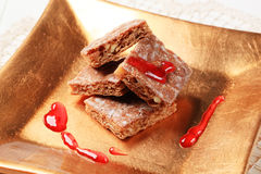Honey squares Royalty Free Stock Images