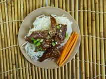 Honey Sriracha Mongolian Beef imágenes de archivo libres de regalías
