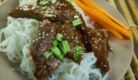 Honey Sriracha Mongolian Beef fotografía de archivo libre de regalías