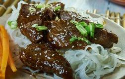 Honey Sriracha Mongolian Beef foto de archivo